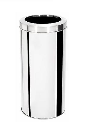 Lixeira inox com aro - 50 litros