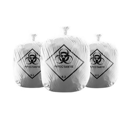 Sacos para lixo hospitalar com simbologia
