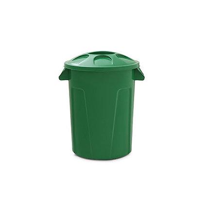 Cesto de lixo com tampa - 100 litros