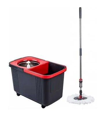 Conjunto balde espremedor com mop - 8 litros