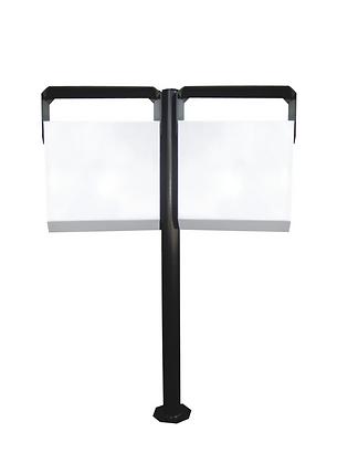 Lixeira metal basculável 180° para calçada dupla - 70 litros