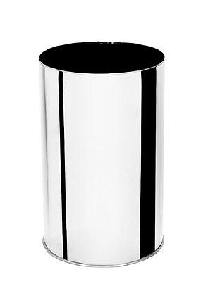 Lixeira inox sem tampa  - 50 litros