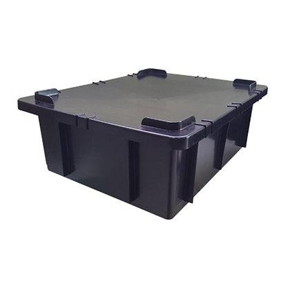 Caixa plástica fechada - 15 litros