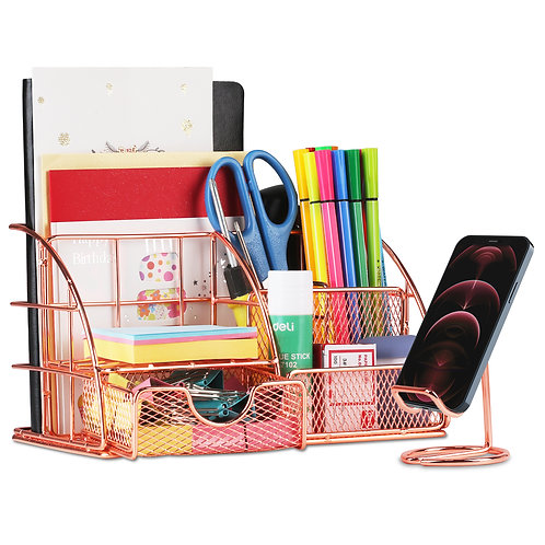 Aerb Desk Organiser with Phone Stand