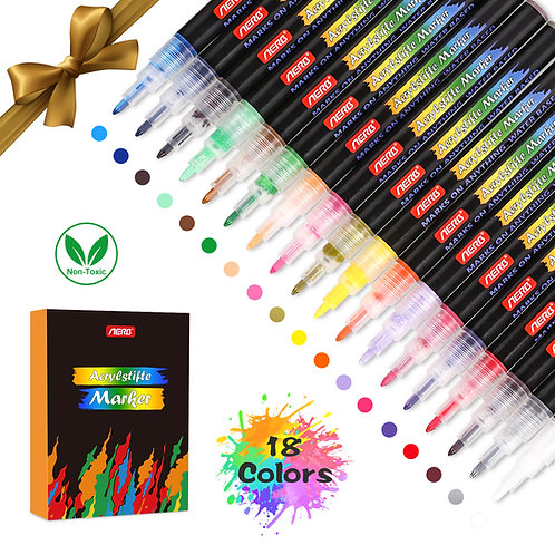 Metallic Pen 18 Colors(0.7mm)