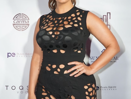 Ashley Graham looking fab in MurMur at LIV, in Miami Beach