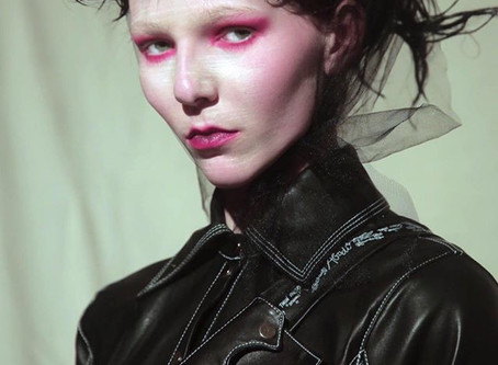 Our Transylvanian Queen never fails to deliver slick cutting edge leather wear... Happy Halloween...