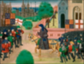 John Ball at Mile End from Jean Froissart, Chronicles (c. 1470) 2.jpg