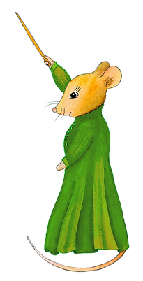 mouse in green