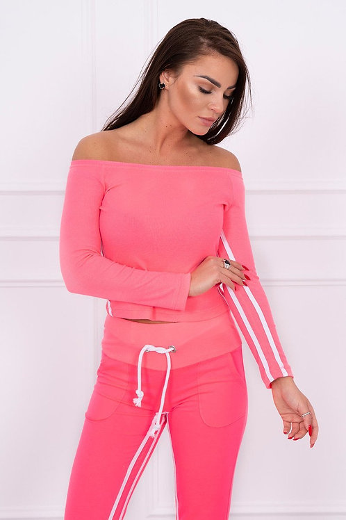 Set with a double stripe pink neon