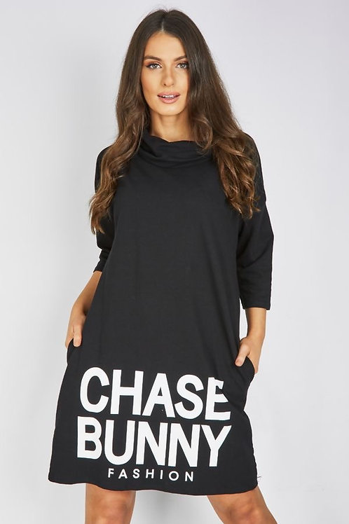 FUNNEL CHASE BUNNY BAGGY DRESS