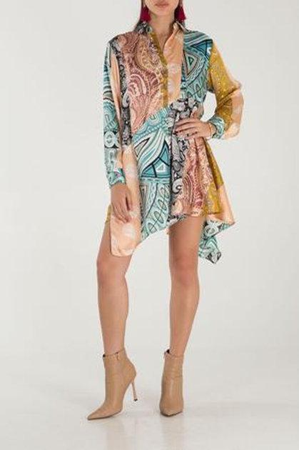 Long Sleeve High Low Tunic Dress
