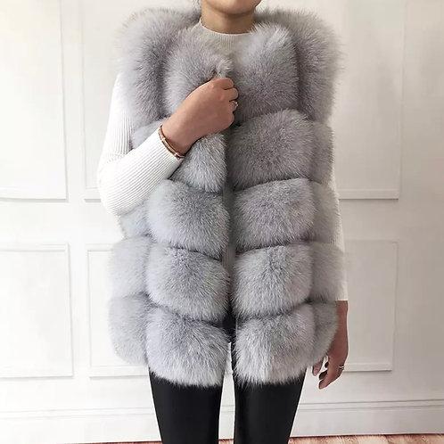 Women's high quality Real Fox Fur vest