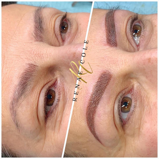 Ombre/Powder Brow (coverup of Microblading done elsewhere)