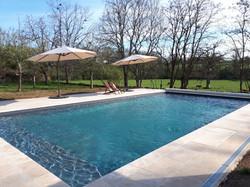 piscine chauffée 6x12m