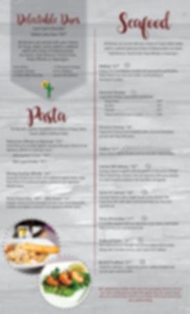 Seafood, Pasta, Torsk, shrimp, halibut, walleye, alfedo,