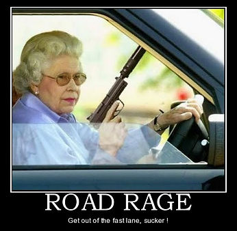 when the queen has road rage