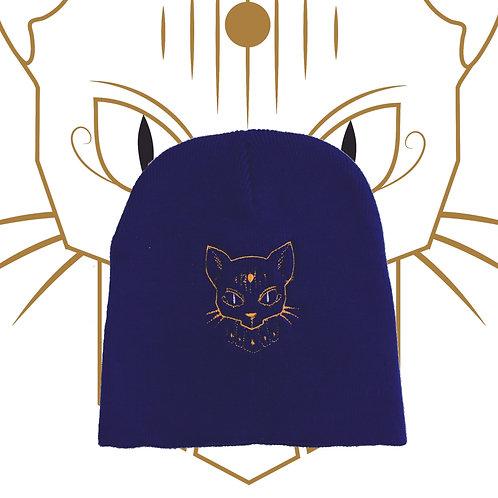 Kat Chamber Royal Blue Logo Beanie