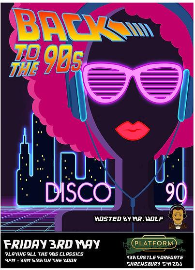 90's night platform advert with wolfie.j