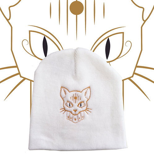 Kat Chamber Logo Beanie White