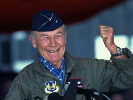 Chuck Yeager, test pilot who first broke sound barrier, dies at age 97