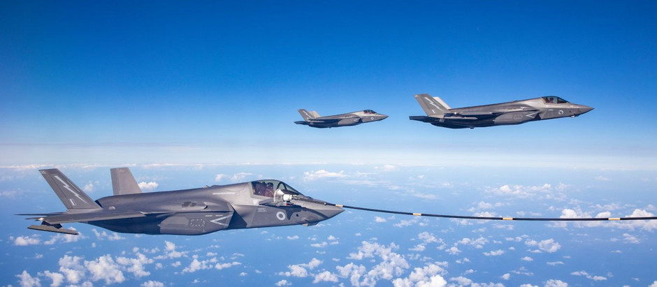 Watch RAF F-35B Fighters From HMS Queen Elisabeth Fly at Atlantic Trident 2021