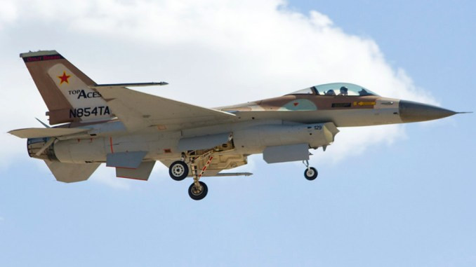Top Aces Aggressor F-16 Flies For The First Time In The U.S.
