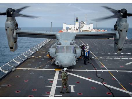 Osprey makes landmark Mercy landing