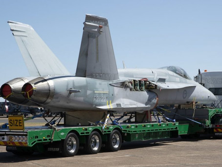 Classic F/A-18A hornets handed over to War Memorial