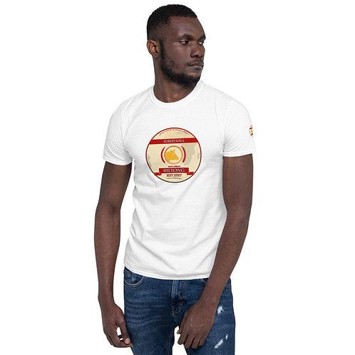Short-Sleeve Unisex T-Shirt White And Greay
