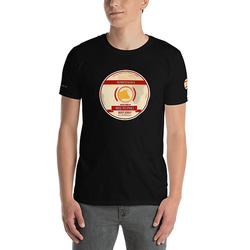 Black Short-Sleeve Unisex T-Shirt biltong logo
