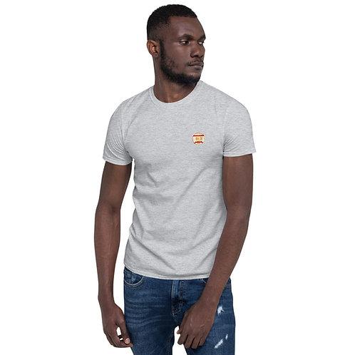 Short-Sleeve Unisex T-Shirt grey small logo