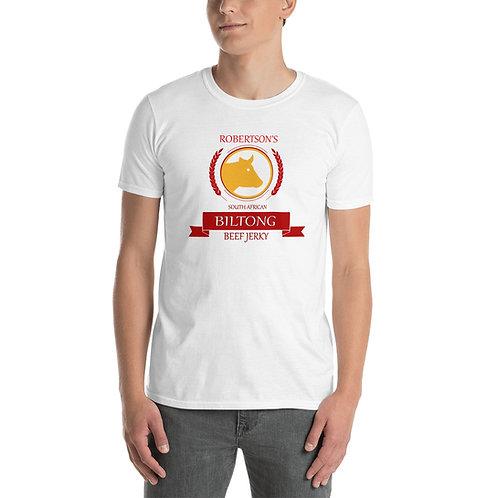 Short-Sleeve Unisex T-Shirt White and Grey