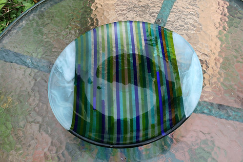 Fused glass  coloured bowl