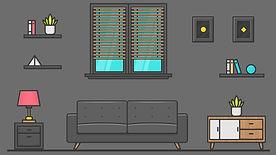 Dark Living Room Background