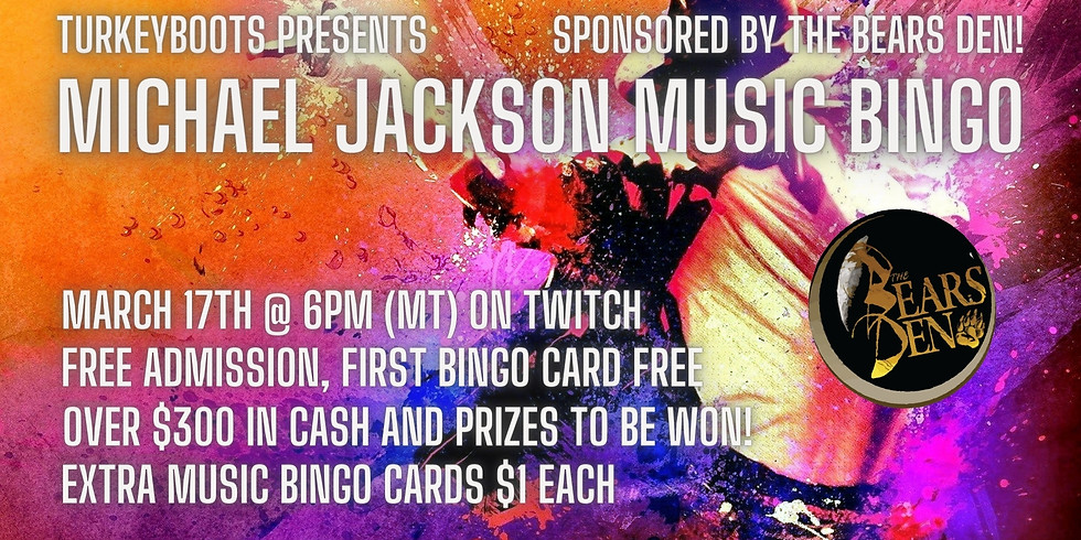 Michael Jackson Music Bingo