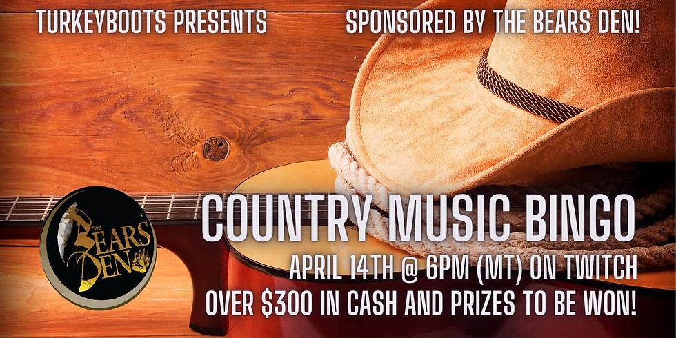 Country Music Bingo