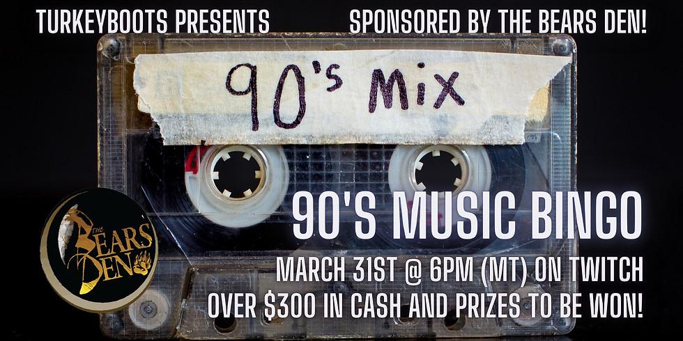 90's Music Bingo