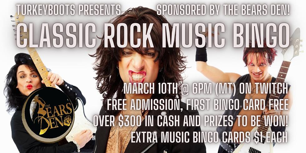 Classic Rock Music Bingo