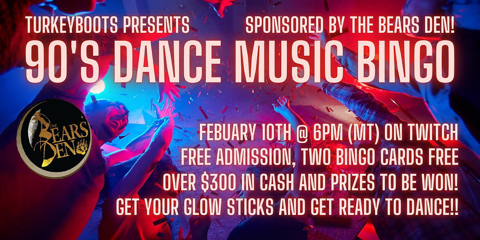 90's Dance Music Bingo!