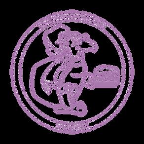 Purple turtle watermark Circl