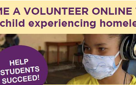 Remote Volunteering: Tutor Kids Experiencing Housing Insecurity & Homelessness with SchoolOnWheels