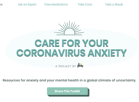 Care for Your or Someone Else's Coronavirus Anxiety
