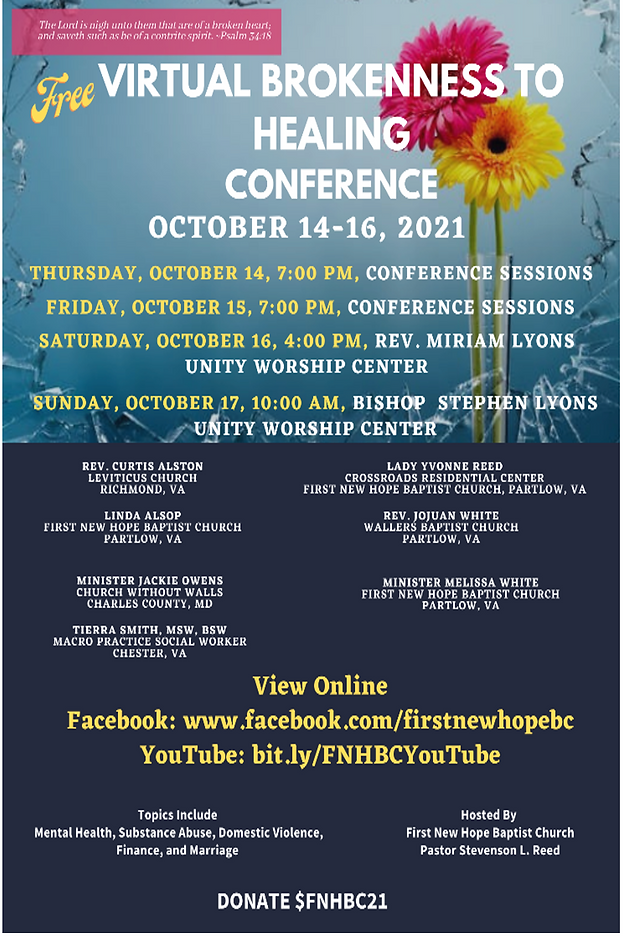 Image 1st New Hope Brokenness to Healing Conference Oct 14-16 2021.png