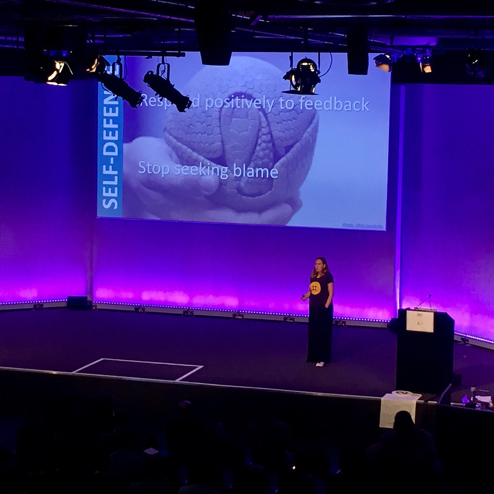 Emma Buton, nubeGO COO, speaking at DevOpsDays London