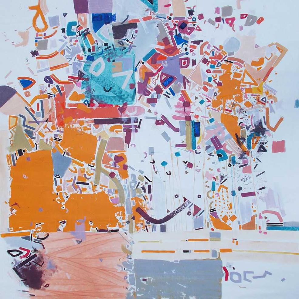 Abstract landscape oncanvas by Halaburda