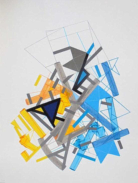 Art on paper Siimonttonn 2 by Philippe Halaburda