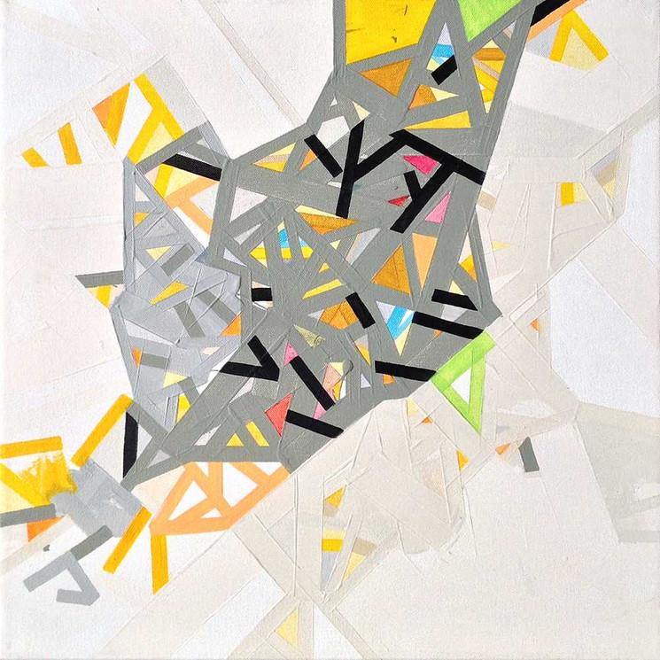 Abstract virtual communitieson canvas by Halaburda