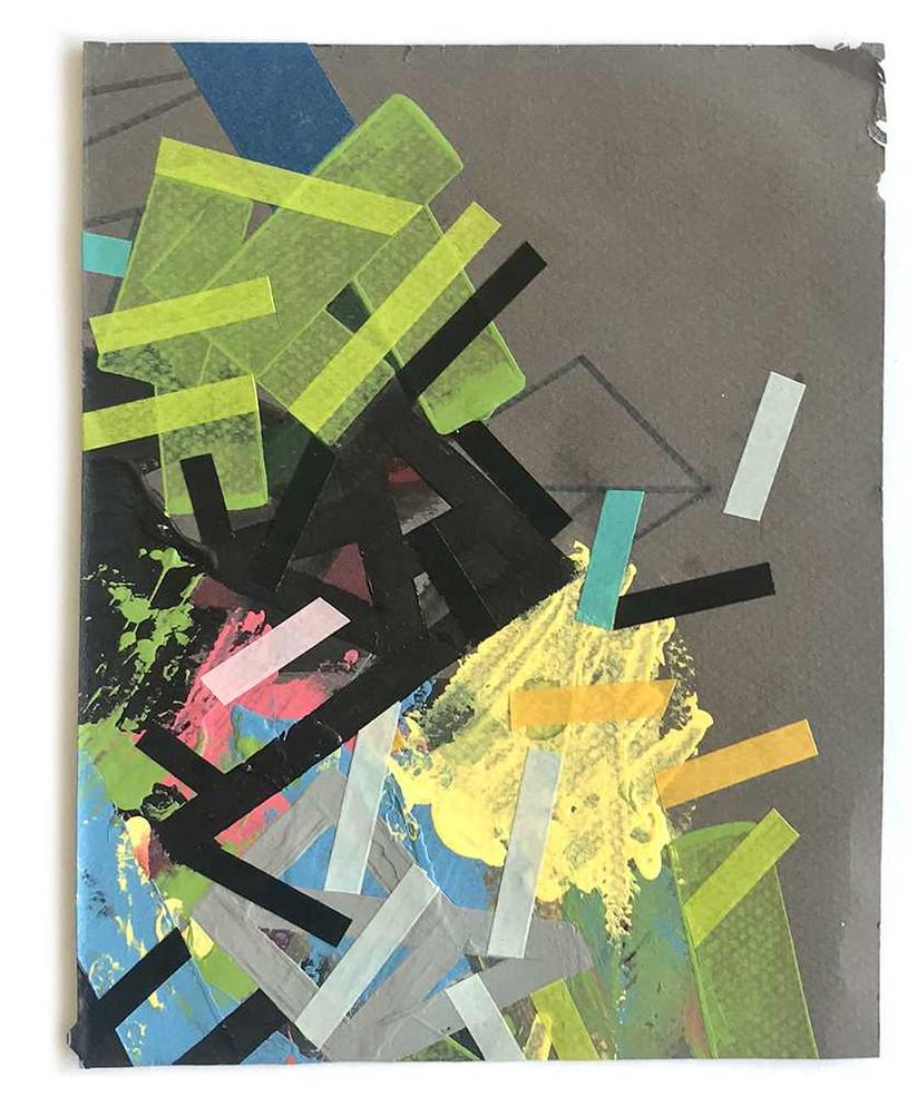Original artwork on dark grey paper by Halaburda