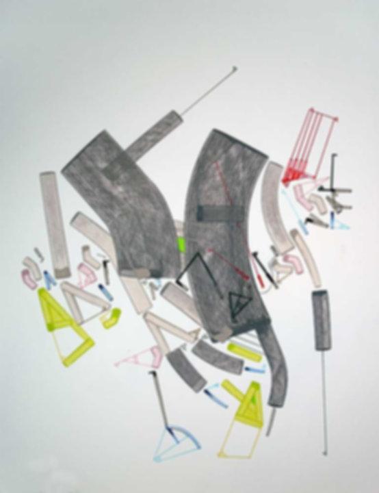 Art on paper Caniis Miror Cassiiop F by Philippe Halaburda
